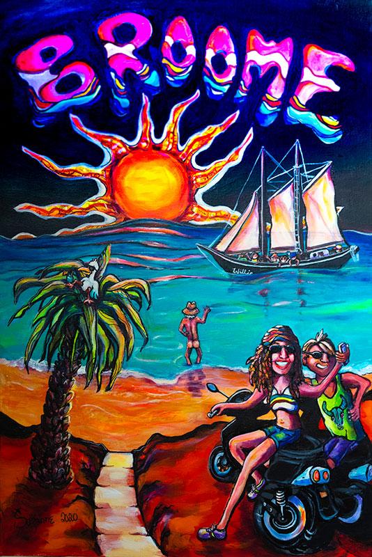 Broome Selfie painting