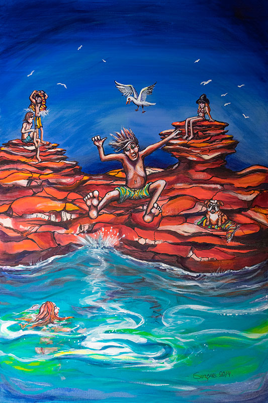 Gantheaume Point painting by Suzanne Holland