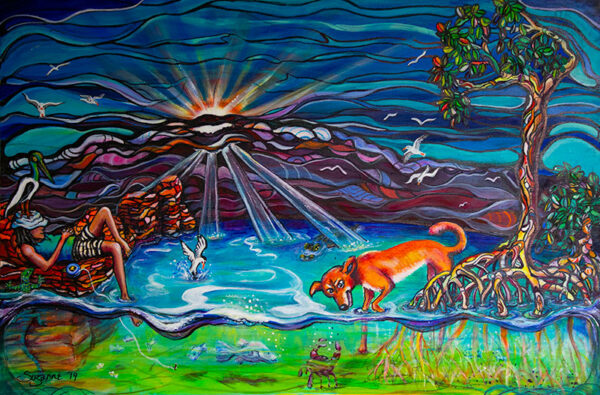 Fishing Painting -'Lazy Daze Fishing' by Suzanne Holland