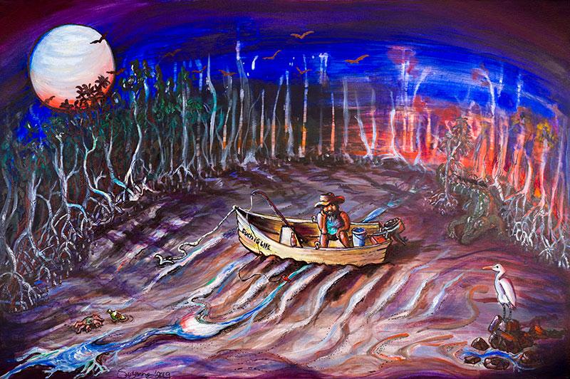 Kimberley art | Staircase to the moon